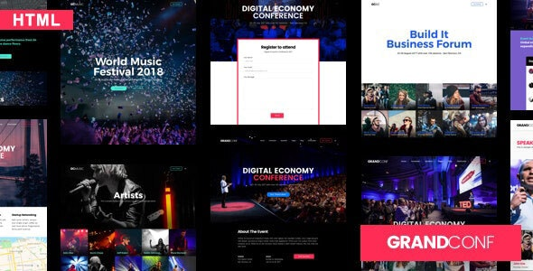 Grand Conference - Event HTML Template
