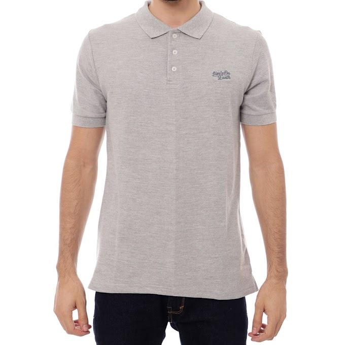 Kaos Polo shirt Kerah Pria Premium Full Gray