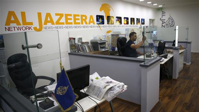 Israel to close  Qatar's pan-Arab broadcaster Al Jazeera offices in Jerusalem al-Quds  after similar move by Saudi Arabia and its allies