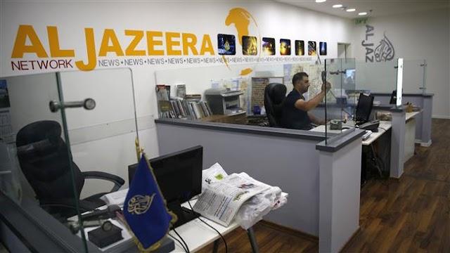 Israel to close  Qatar's pan-Arab broadcaster Al Jazeera offices in Jerusalem al-Quds  after similar move by Saudi Arabia and its allies