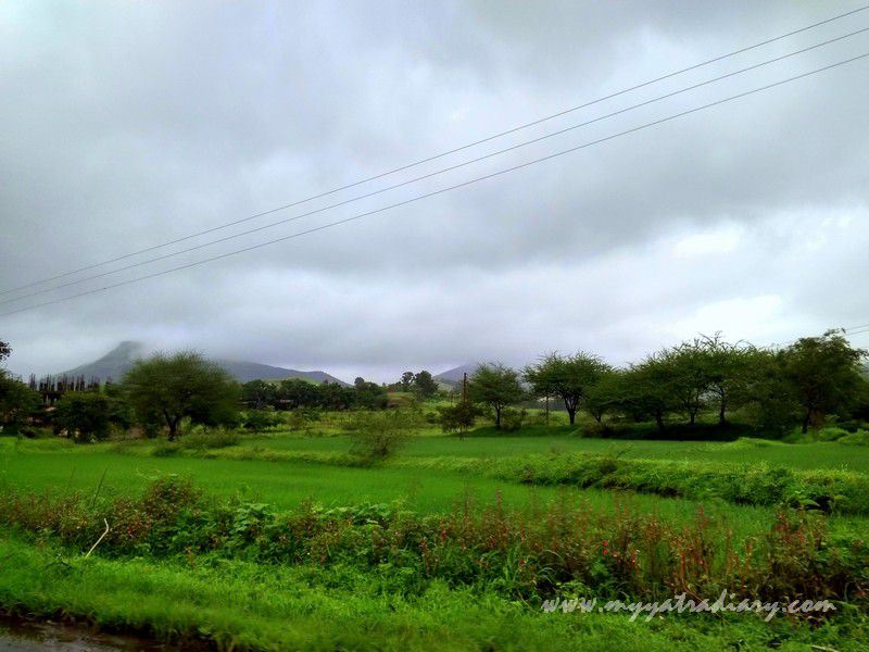 Splendorous scenary on the Trimbakeshwar -Ghoti road near Nashik, Maharashtra