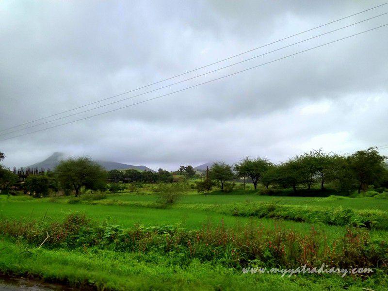 Splendorous scenary on the Trimbakeshwar -Ghoti road near Nashik, Maharashtra