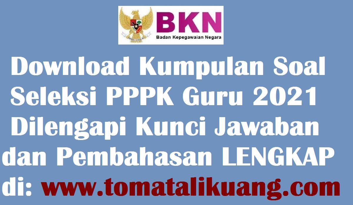 Contoh Download Soal Cpns Dan Kunci Jawaban Revisi Pdf 2021 Download File Guru