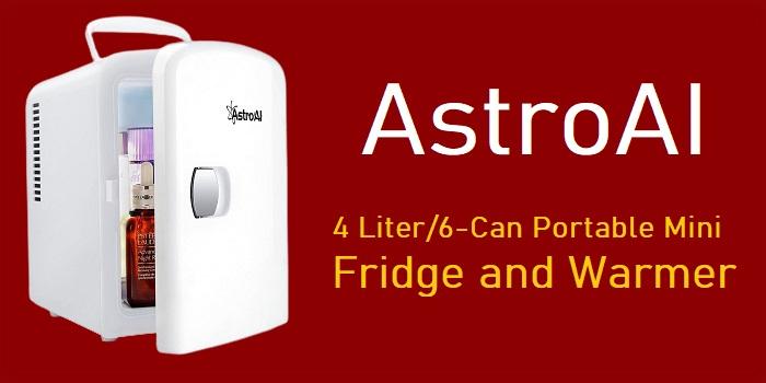 AstroAI - 4 Liter/6 Can Portable Mini Fridge and Warmer