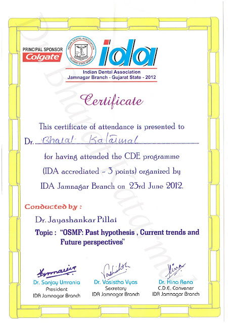 OSMF by Dr. Jayashankar Pillai