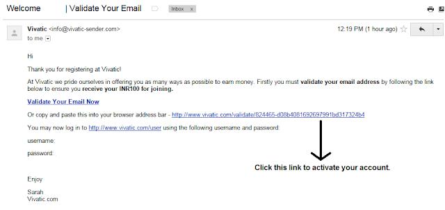 Validation mail | Vivatic