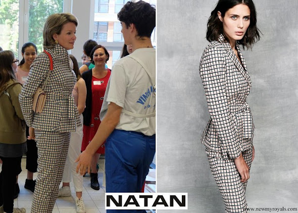 Qeen Mathilde wore Natan Collection Pantsuit