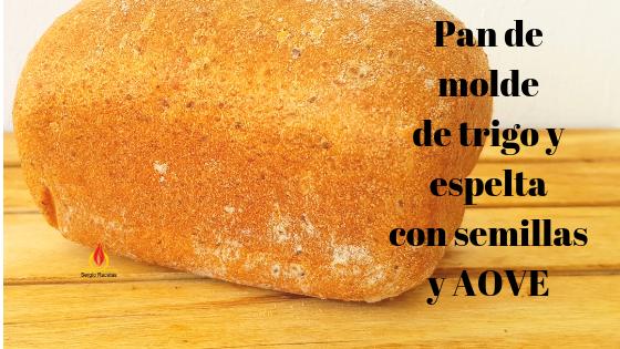 Pan de molde de trigo y espelta integral con semillas