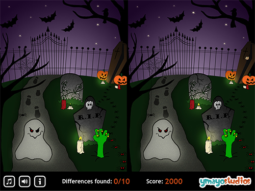 Best halloween spot the difference printable worksheet pictures ...