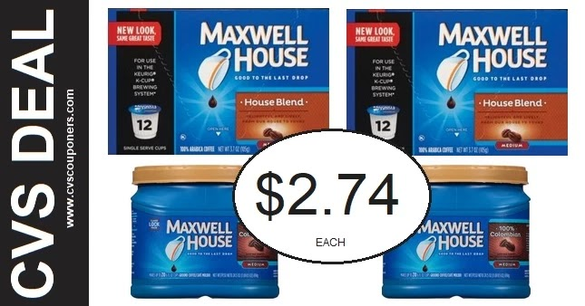 Maxwell House Coffee Coupon Deals at CVS