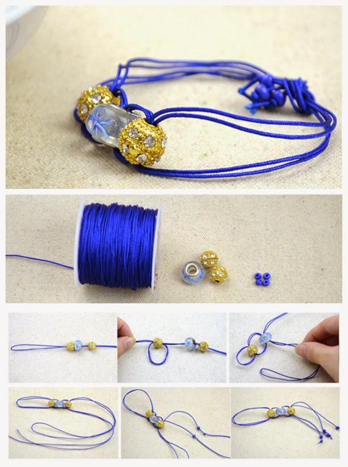 crafting wire 5 minute craft handmade beaded bracelet. Black Bedroom Furniture Sets. Home Design Ideas