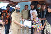 Wakil Bupati Gunung Kidul Bedah Rumah Warga Tidak Mampu di Masa Pandemi