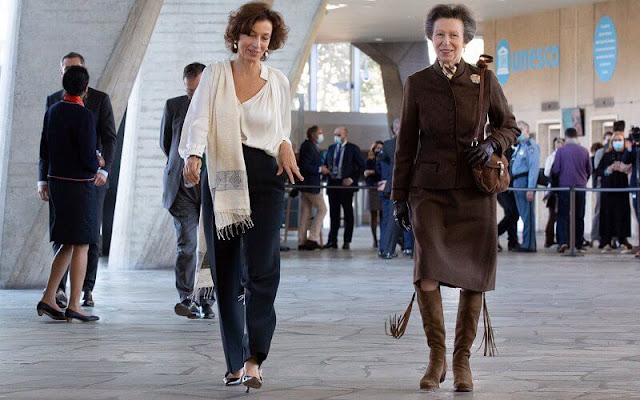 Princess Anne attended the celebrations of the 75th anniversary of the UNESCO in Paris