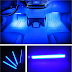 Car LED Strip Light, EJ's SUPER CAR 4pcs 36 LED Car Interior Lights Under Dash Lighting Waterproof Kit,Atmosphere Neon Lights Strip for Car,DC 12V(Blue)