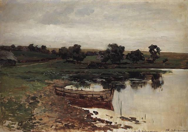 Исаак Ильич Левитан - У речки. 1880-е