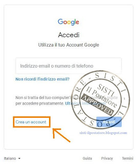 Creare Account Gmail Screen 2
