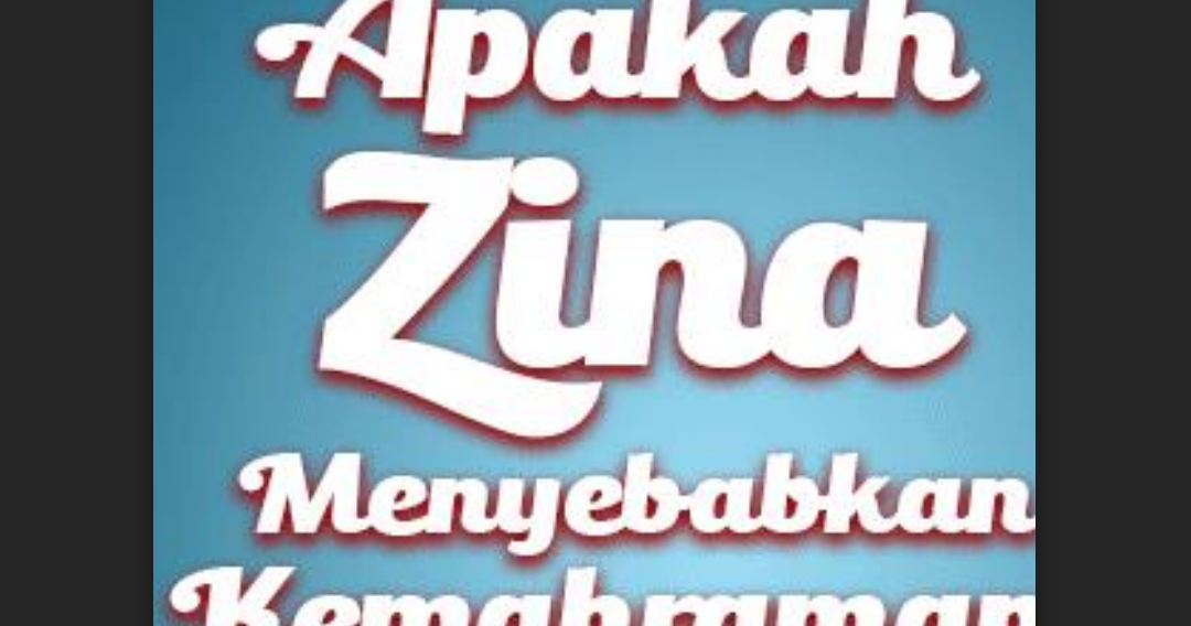 Apakah Zina Menyebabkan Kemahraman? (PDF Ebook Fiqih)