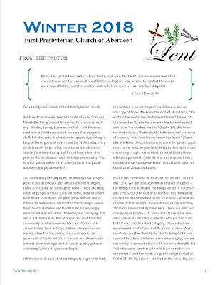 e-Newsletter Winter 2018 First Presbyterian Church of Aberdeen