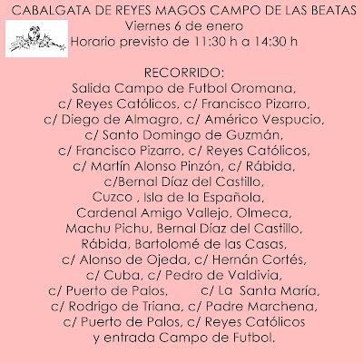 CABALGATA DE REYES MAGOS CAMPO DE LAS BEATAS