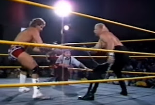 Smoky Mountain Wrestling - Dirty White Boy faced Tracy Smothers in a Strap match