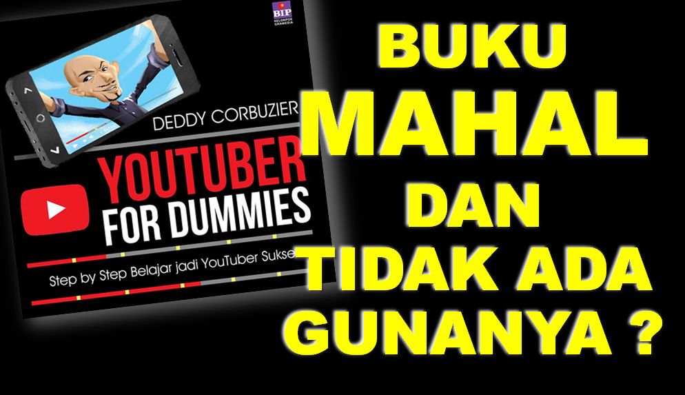 Review Buku Youtuber For Dummies Deddy Corbuzier