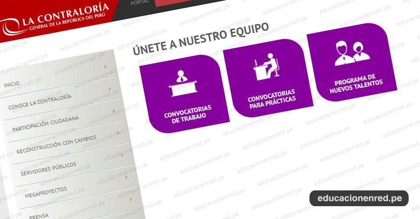 CONTRALORÍA: Convocatoria Septiembre 2019 - Más de 300 plazas para nuevos talentos - www.contraloria.gob.pe
