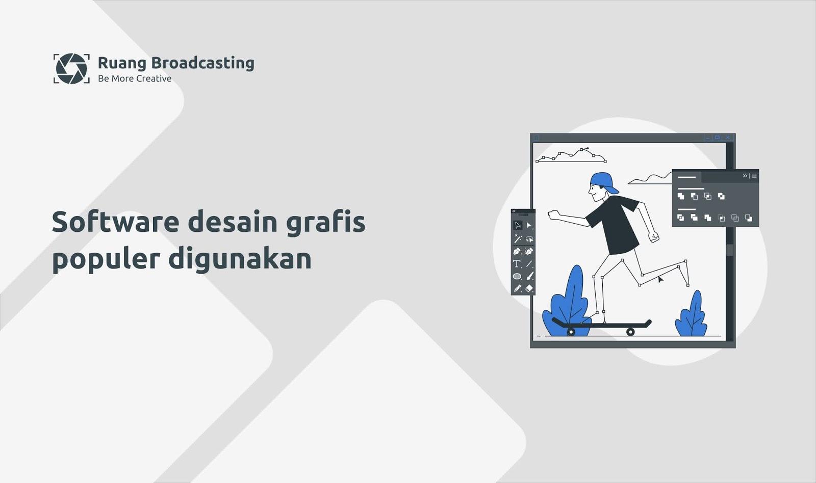 Software desain grafis yang populer digunakan