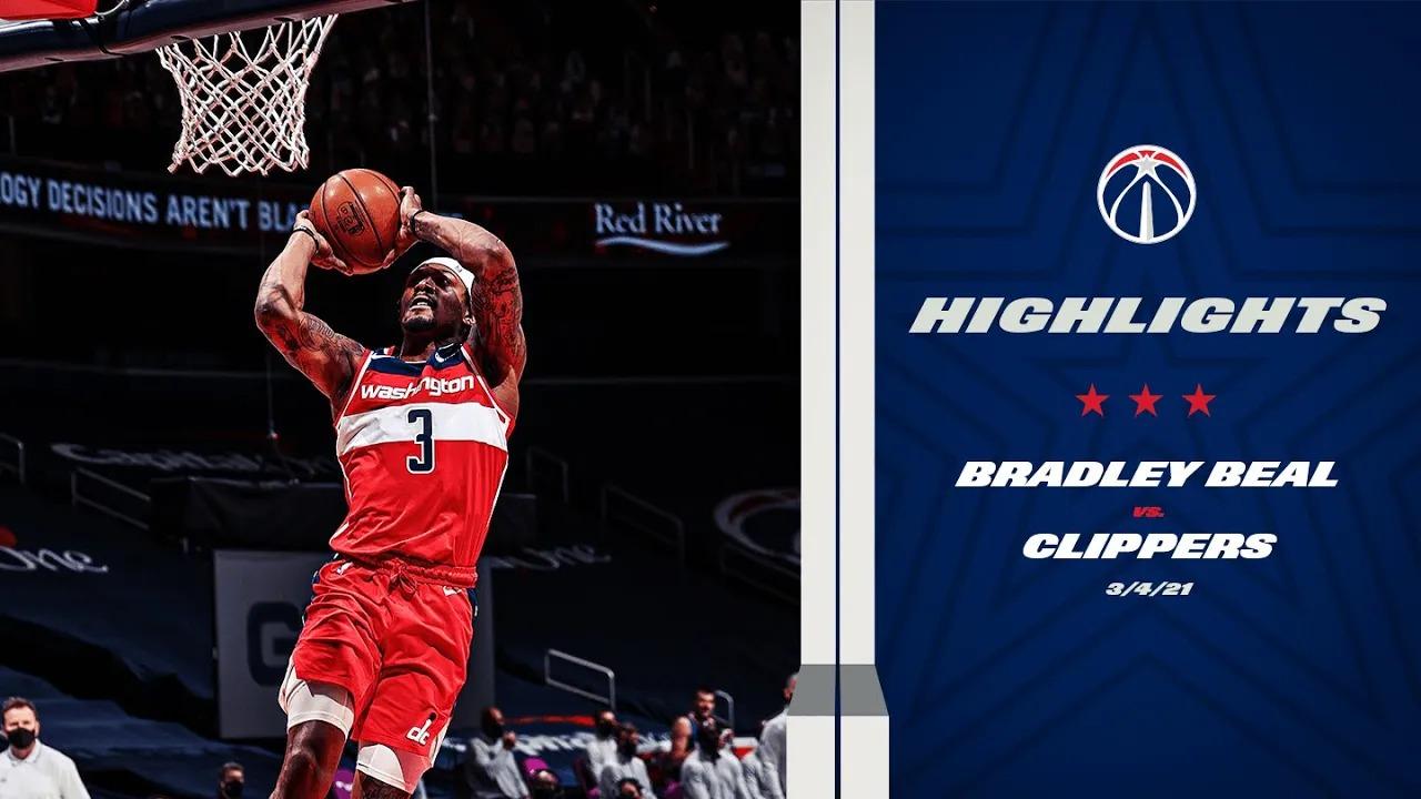 Bradley Beal 33pts 7reb vs LAC | March 4, 2021 | 2020-21 NBA Season