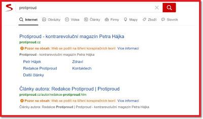 """Vyhledávač Seznam - vyhledávací výraz """"Protiproud"""""""