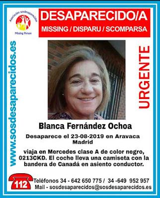 Blanca Fernández Ochoa desaparecida en Aravaca, Madrid