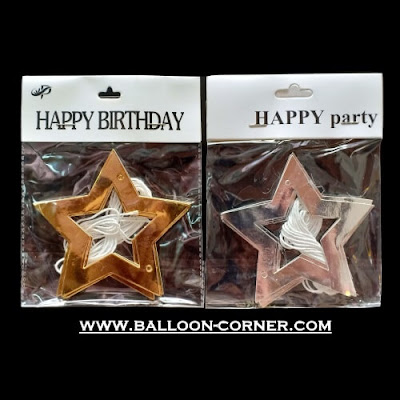 Paper Star Garland Gold & Silver