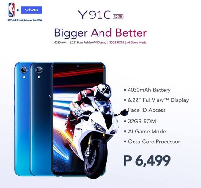 Vivo Y91C Lands in PH for Only Php6,499
