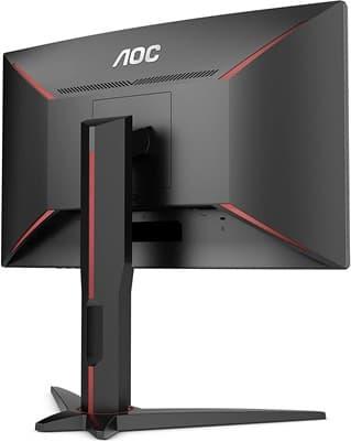 AOC C24G1: monitor curvo FHD con refresco de 144 Hz, respuesta de 1 ms, soporte AMD FreeSync y diseño regulable en altura