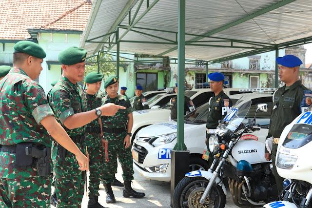Pangdivif 2 Kostrad Melaksanakan Kunjungan Kerja ke Denpom 2 Kostrad