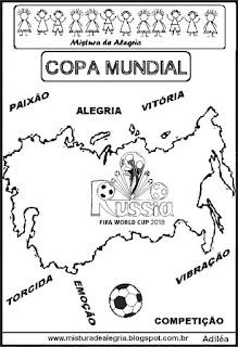 Copa mundial de 2018 mapa