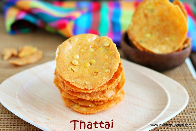 Thattai- diwlai snack