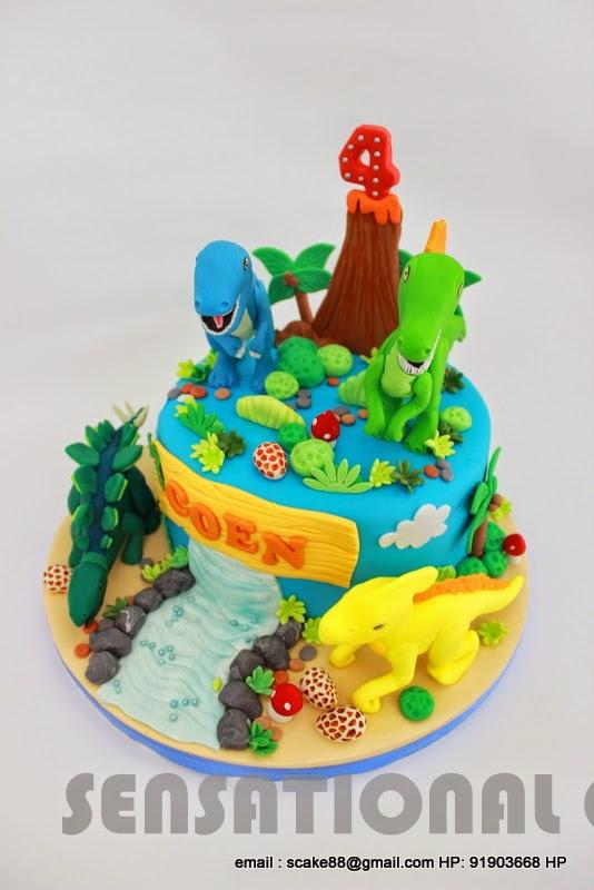 The Sensational Cakes DINOSAUR THEME 3D CAKE SINGAPORE SUGAR