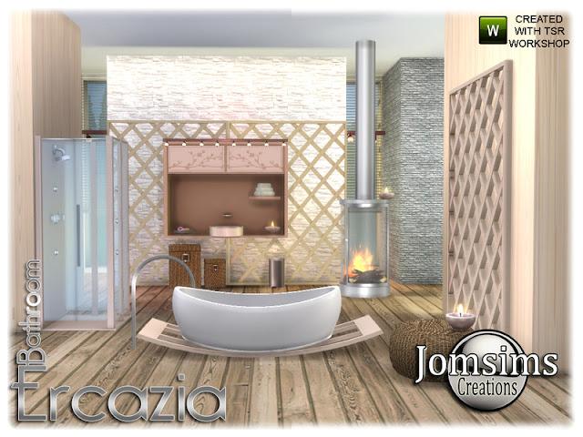 Ercazia bathroom Ercazia ванная комната The Sims 4 Ercazia ванная комната дзен атмосфера. для этой новой ванной комнаты, в 4 оттенках. ванна. тонуть. раковина часть2. 2 потолочных светильника. 1 камин. 1 разделитель душ .. для сепаратора я использую объекты bb.moveobjects. и alt + мышь. и для раковины части 2 симы проходят, потому что это часть 2 раковины. Автор: jomsims