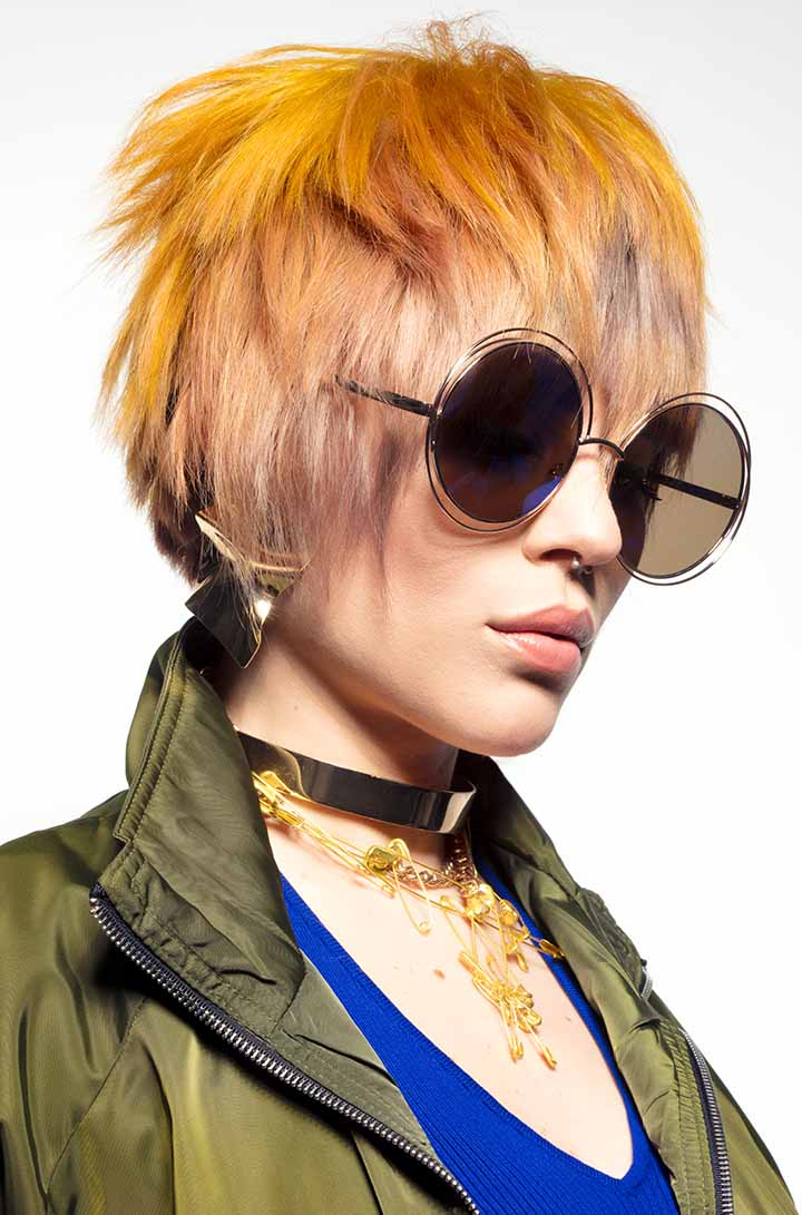 color de pelo naranja y rubio 2020