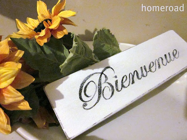 How to Make a French Welcome Sign
