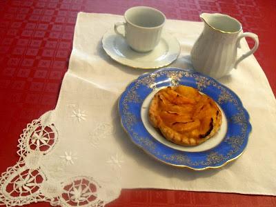 Hojaldre de mandarina con crema pastelera y moscatel