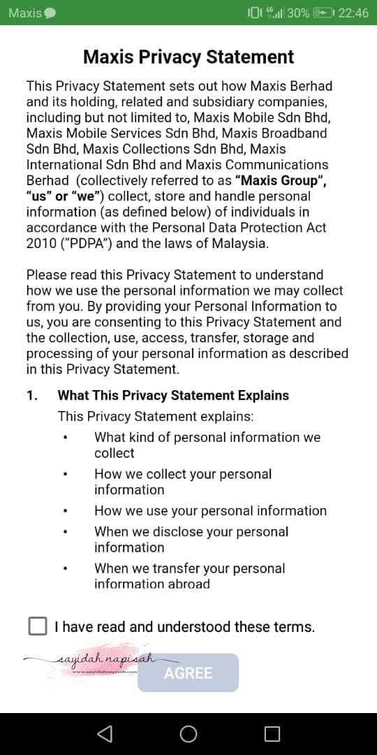 maxis privacy statement