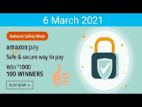 Amazon National Safety Week Quiz Answers 06-Mar-2021