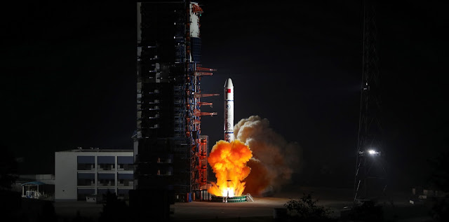 Long March 2C sends a triplet of Yaogan-30 satellites into orbit. Photo Credit: Xinhua/Liang Keyan