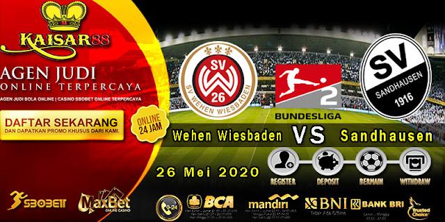 Prediksi Bola Terpercaya Liga Jerman2 Wehen Wiesbaden vs Sandhausen 26 Mei 2020