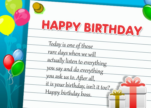Birthday Wishes For Manager ~ Birthday wishes for boss best quotes messages greeting