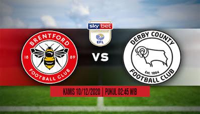 Prediksi Brentford vs Derby ,Kamis 10 Desember 2020 Pukul 02.45 WIB