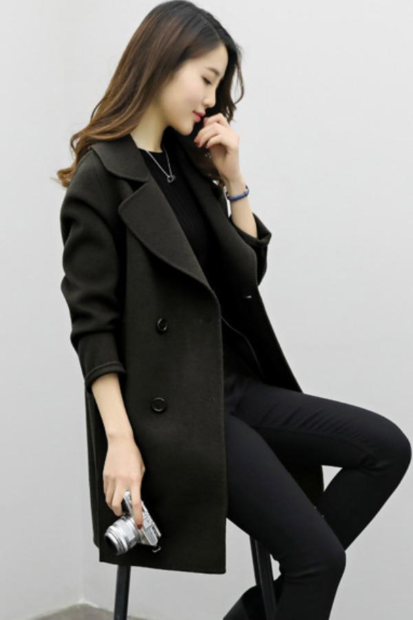 JAKET WOOL - LONG COAT WOOL - COAT KOREA STYLE BIGSIZE