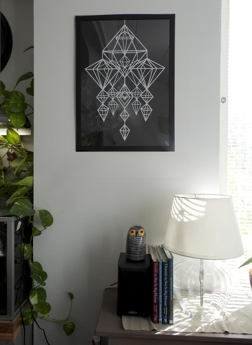Himmeli-printti olohuoneessa