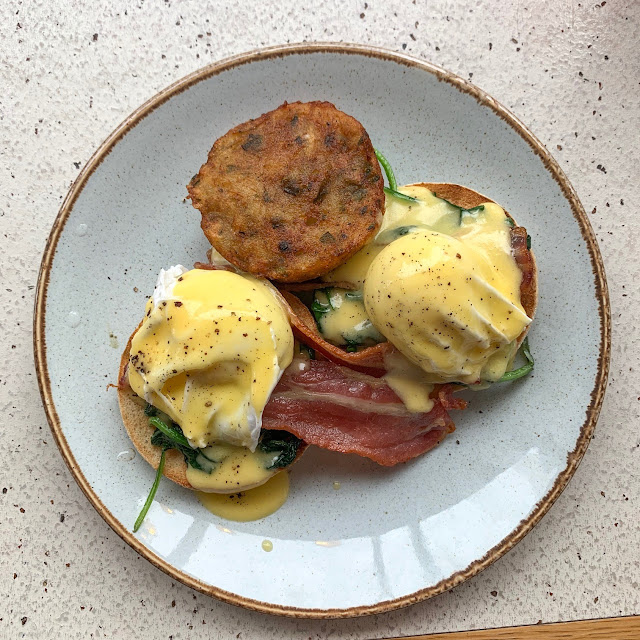 Eggs Benedict and Manchester's BEST Hash Browns at Wilson's Social